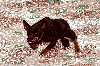 Kelpie Painting - Australian Kelpie Dog Portrait by Olde Time  Mercantile