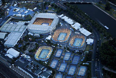 Photograph - Australlian Open Tennis Venues by Brett Price