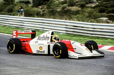 Formula Car Photograph - Ayrton Senna by Jose Bispo