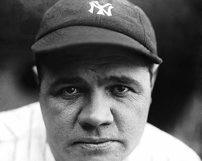Sports Photograph - Babe Ruth New York Yankees by Retro Images Archive