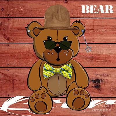 Baby Mixed Media - Baby Bear Collection by Marvin Blaine