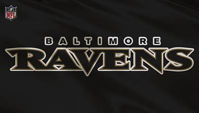 Baltimore Ravens Uniform Print by Joe Hamilton