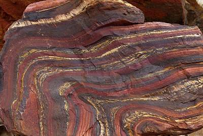 Hematite Photograph - Banded Iron Formation by Dirk Wiersma