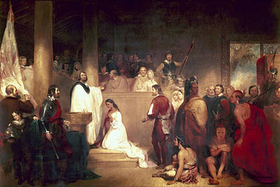 Baptism Painting - Baptism Of Pocahontas by Granger