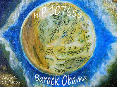Obama Painting - Barack Obama Star by Augusta Stylianou