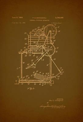 Baseball Drawing - Baseball Pitching Machine Patent 1964 by Mountain Dreams