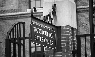 Baseball Warning Print by Frank Romeo