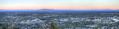 Bend From Pilot Butte In Evening Print by Twenty Two North Photography