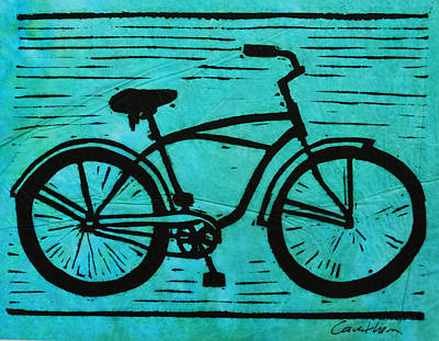 Austin Drawing - Bike 9 by William Cauthern