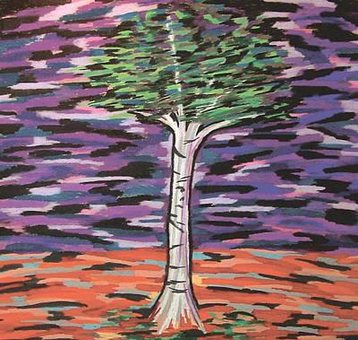 Birch At Dawn Print by Mike Manzi