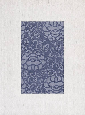 Blue Flowers Print by Aged Pixel