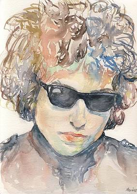 Robert Plant Framed Painting - Bob Dylan by Marina Sotiriou