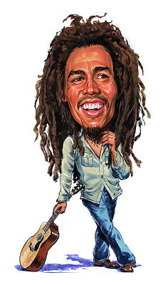 Vocalist Painting - Bob Marley by Art