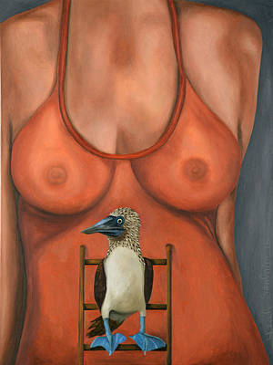 3 Boobies Original by Leah Saulnier The Painting Maniac