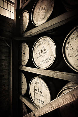 Bourbon Barrels Print by Karen Zucal Varnas