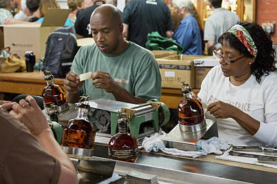 Bourbon Bottling Production Line Print by Jim West