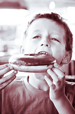 Gobble Photograph - Boy With Donut by Tom Gowanlock