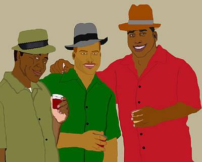 African American Painting - 3 Buds by Pharris Art