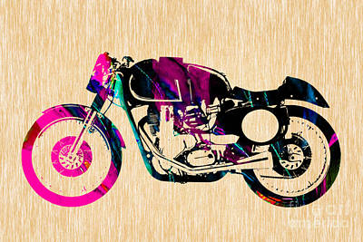 Cafe Racer Motorcycle Print by Marvin Blaine