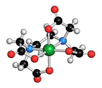 Calcium Photograph - Calcium Edetate Drug Molecule by Molekuul