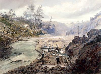 Gold Rush Painting - California Gold Rush, 1853 by Granger