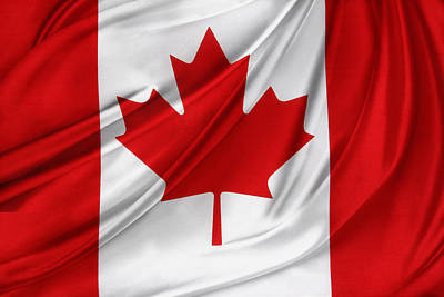 Textiles Photograph - Canadian Flag  by Les Cunliffe