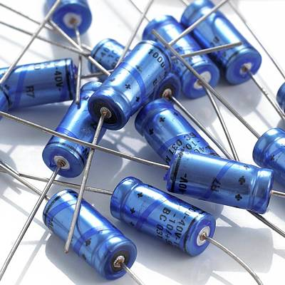 Capacitors Print by Science Photo Library