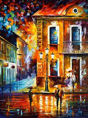 Oil Landscape Painting - Charming Night by Leonid Afremov