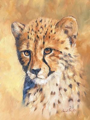Cheetah Cub Print by David Stribbling