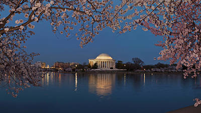 Cherry Blossoms Photograph - Cherry Blossom Tree With A Memorial by Panoramic Images