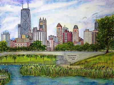 Chicago Skyline Original by Janet Immordino