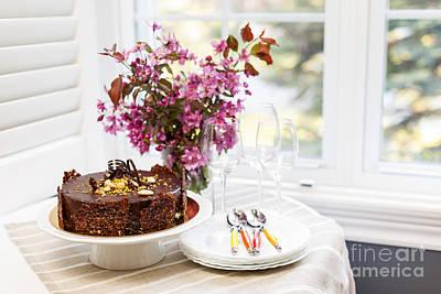 Chocolate Cake Print by Elena Elisseeva