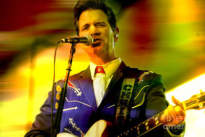 Musicians Mixed Media - Chris Isaak by Marvin Blaine