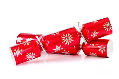Christmas Crackers Print by Elena Elisseeva