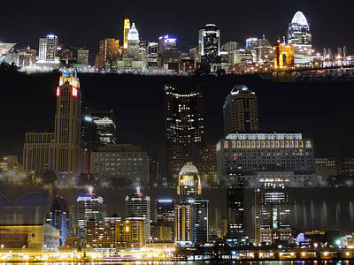 Pittsburgh Skyline Photograph - 3 City Blend by Cityscape Photography