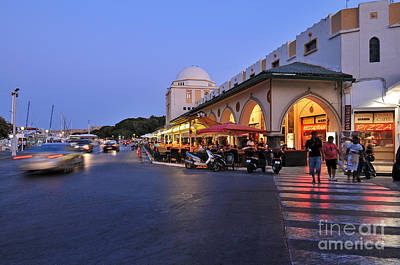 City Of Rhodes During Dusk Time Print by George Atsametakis