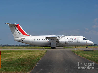 Cityjet British Aerospace Avro Rj85 Print by Paul Fearn
