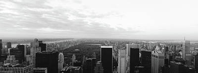 Cityscape At Sunset, Central Park, East Print by Panoramic Images