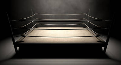 Fight Digital Art - Classic Vintage Boxing Ring by Allan Swart