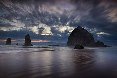 Cannon Beach Photograph - Clearing Storm by Andrew Soundarajan