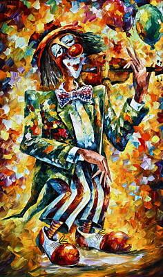 Clown Original by Leonid Afremov