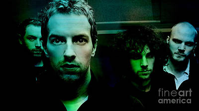 Coldplay Mixed Media - Coldplay by Marvin Blaine
