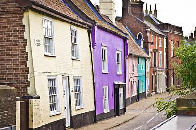 Violet Photograph - Colorful Cottages by Tom Gowanlock