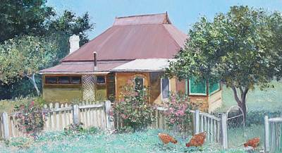Country Scene Painting - Country Cottage by Jan Matson
