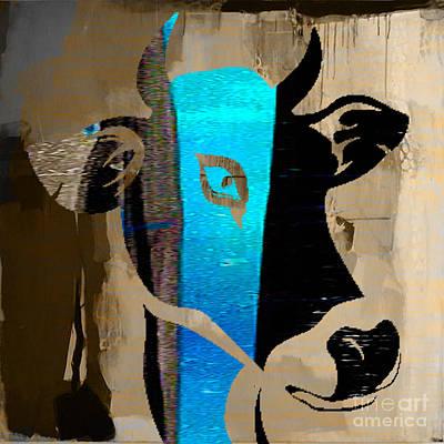 Skulls Mixed Media - Cow by Marvin Blaine