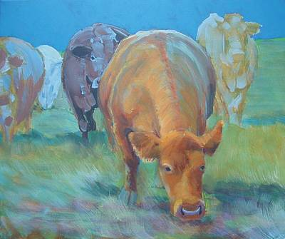 Pig Painting - Cows  by Mike Jory