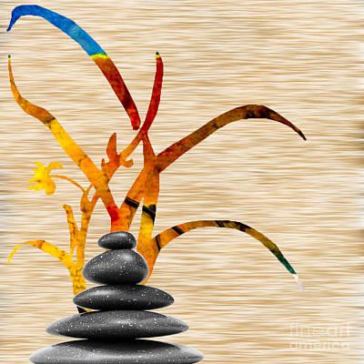 Bamboo Mixed Media - Creating Balance by Marvin Blaine
