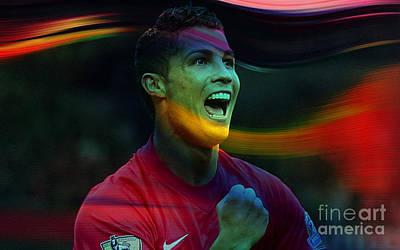 Cristiano Ronaldo Print by Marvin Blaine