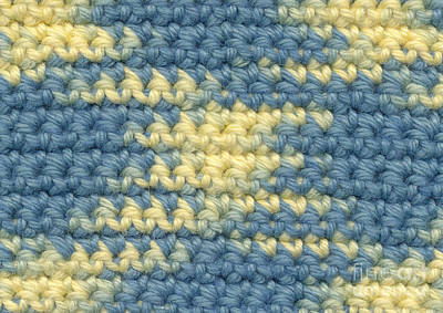 Textile Tapestry - Textile - Crochet Made With Variegated Yarn by Kerstin Ivarsson