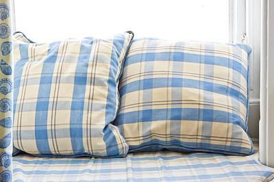Cushions Print by Tom Gowanlock